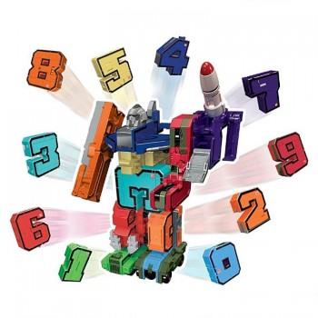 1toy Трансботы Боевой расчёт, 12 шт.в боксе,цифры от 0 до 9,знаки -,+,,х - 2шт. вразнобой, блистер