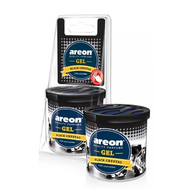 Автомобильный ароматизатор Areon GEL CAN Blister Черный Кристалл
