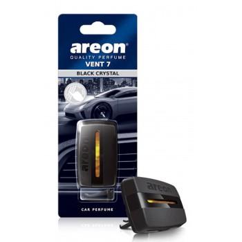 (EOL) Автомобильный ароматизатор  AREON VENT 7 Черный кристалл
