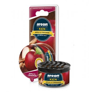 Автомобильный ароматизатор AREON KEN BLISTER 704-AKB-08, Apple & Spice, Яблоко и корица