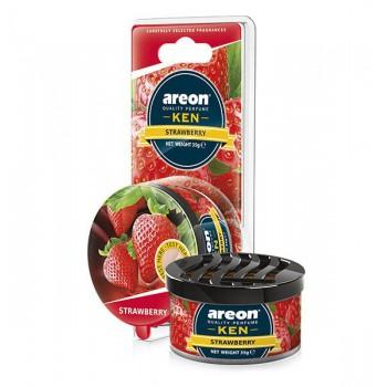 Автомобильный ароматизатор AREON KEN BLISTER 704-AKB-01, Strawberry, Клубника
