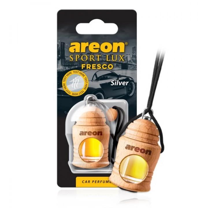 Автомобильный ароматизатор AREON FRESCO SPORT LUX FSL02 (704-051-L02) Silver, Серебро