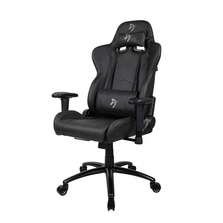 Компьютерное кресло (для геймеров) Arozzi Inizio Black PU - Grey logo