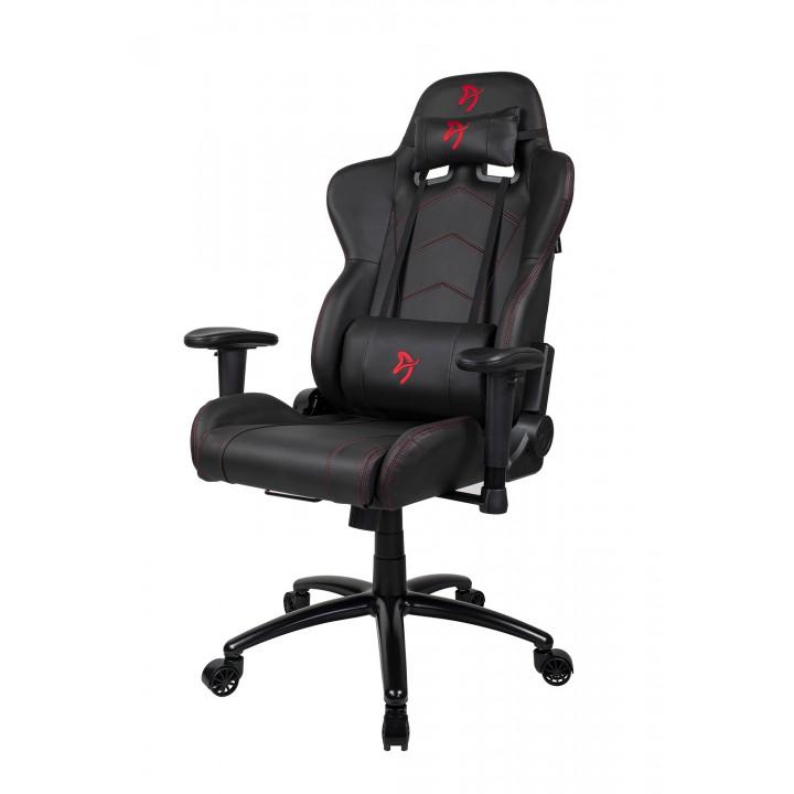 Компьютерное кресло (для геймеров) Arozzi Inizio Black PU - Red logo