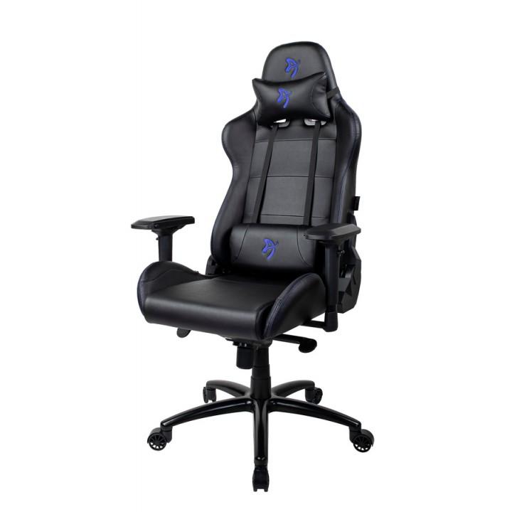 Компьютерное кресло (для геймеров) Arozzi Verona Signature Black PU - Blue Logo