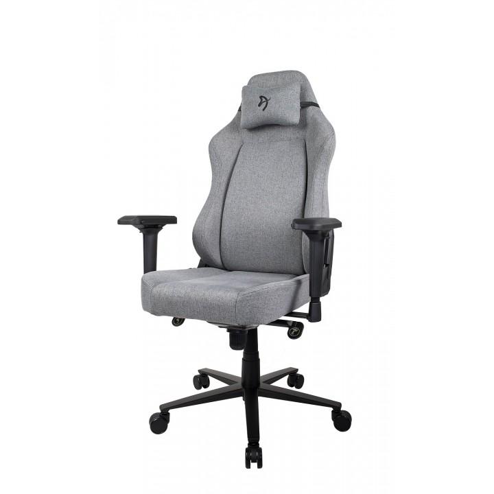 Компьютерное кресло (для геймеров) Arozzi Primo Woven Fabric - Grey - Black logo