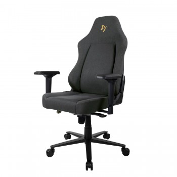 Компьютерное кресло (для геймеров) Arozzi Primo Woven Fabric - Black - Gold logo
