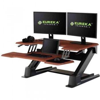 Подставка на компьютерный стол для работы стоя Eureka CV-PRO36C, вишнёвый