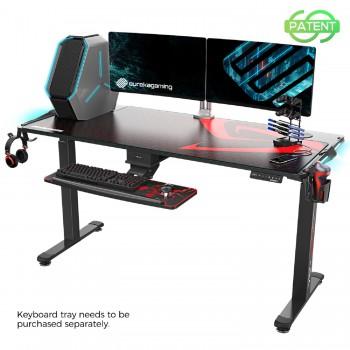 Стол для для компьютера c электрической регулировкой по высоте и RGB-подсветкой EUREKA ERK-EGD-S62B