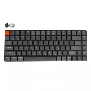 Беспроводная механическая ультратонкая клавиатура Keychron K3, 84 клавиши, RGB подстветка, White Switch