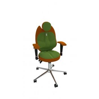 Кресло детское эргономичное Kulik TRIO (1406) orange/green