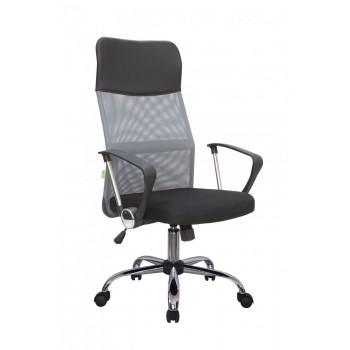 Кресло офисное Riva Chair 8074, черная ткань/серая сетка