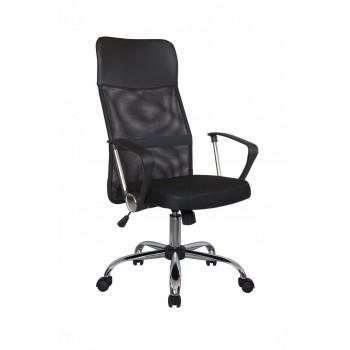 Кресло офисное Riva Chair 8074, черная ткань/черная сетка