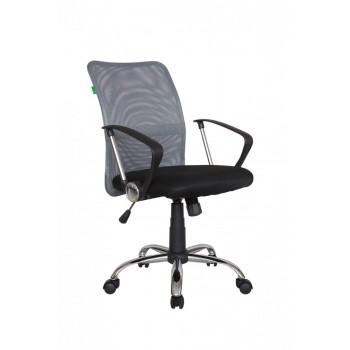 Кресло офисное Riva Chair 8075, черная ткань/серая сетка