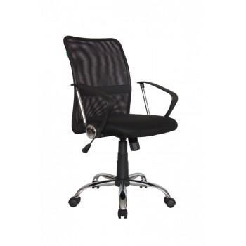 Кресло офисное Riva Chair 8075, черная ткань/черная сетка