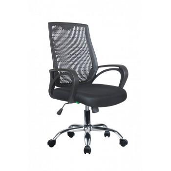 Кресло офисное Riva Chair 8081E чёрная сетка