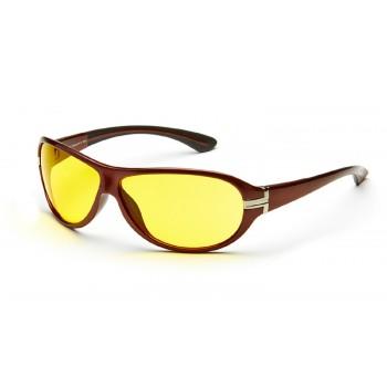 Очки для водителей AD044 ШОКОЛАДНЫЙ в футляре с салфеткой