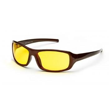 Очки для водителей AD048 ШОКОЛАДНЫЙ в футляре с салфеткой