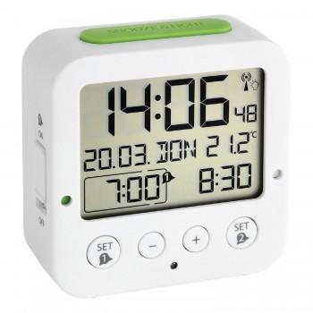 Цифровой радиоуправляемый Будильник TFA 60.2528.02, черный