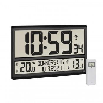 Цифровые настенные часы TFA 60.4521.01, с отображением наружной и внутренней температуры