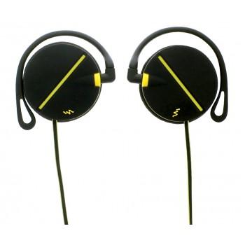 Проводные наушники клипсы T'nB CSSPCLIP для спорта, черно-желтые